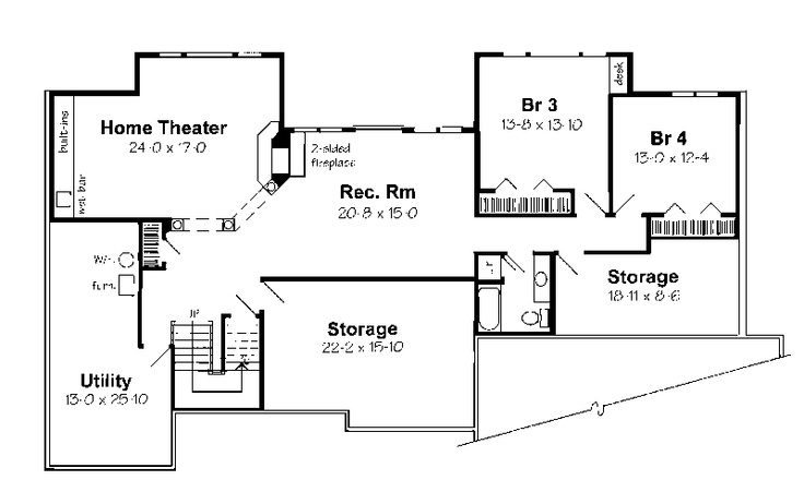 Do ranch houses have basements house styles pinterest for Ranch style house plans with basement