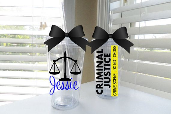 Criminal Justice tumbler  available in 3 by ChicExpressionsGifts