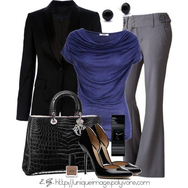 Workwear Fashion 2012 | Indigo Top | Fashionista Trends