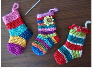 Top 10 FREE Christmas Crochet Patterns: Little Christmas Socks
