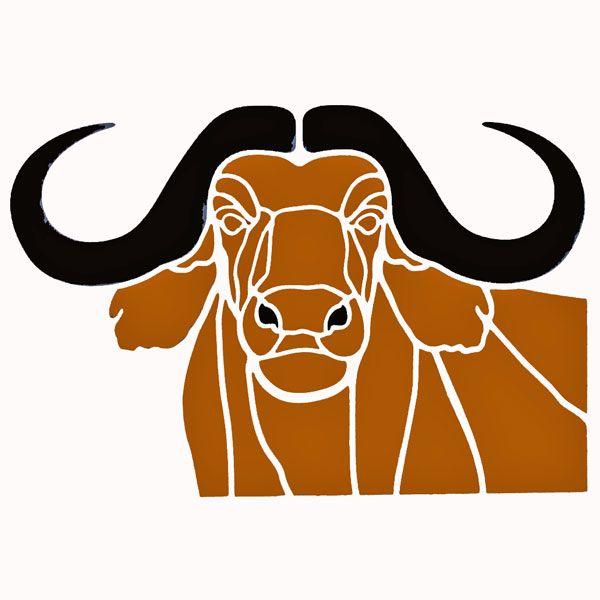 Buffalo Head Stencil