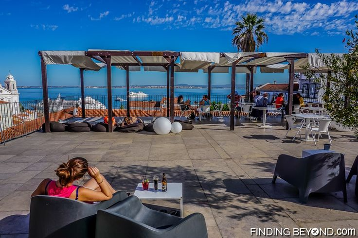 Portas do Sol terrace. Things to do in Alfama District - Lisbon Old Town.