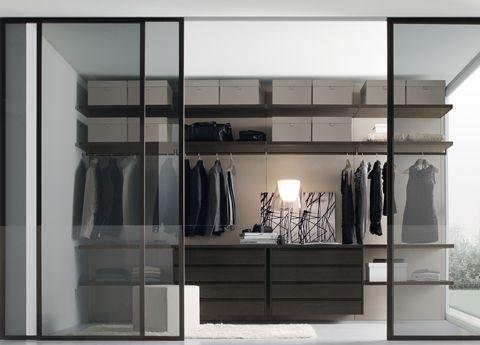 Jesse Walk In Wardrobe With Smoked Glass Doors
