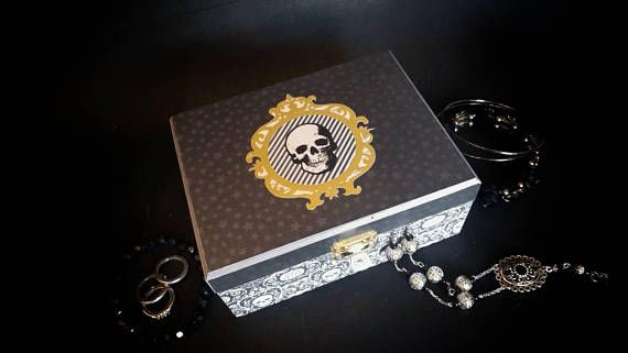 Medium wooden chest box Pick your Poison with