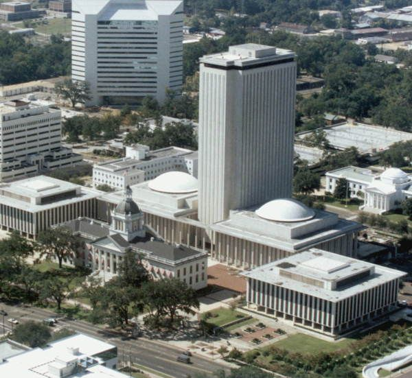 Aerial view of the Florida's State Capitol complex in Tallahassee.