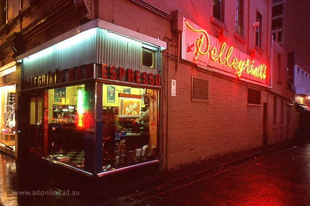 Pellegrini's in the city, somewhere I take all of my interstate / overseas friends. An institution!