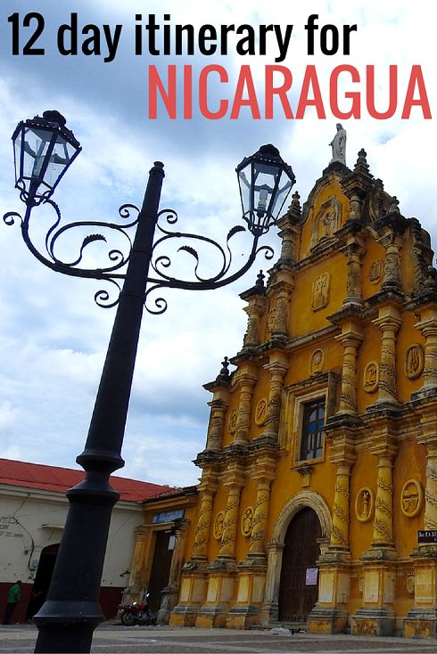 Adoration 4 Adventure's 12 day backpacking itinerary for Nicaragua on a budget. Including stops in Leon, Granada and Ometepe.