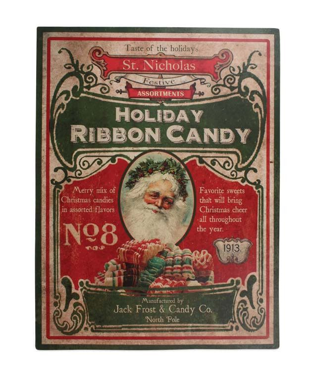 Old Fashioned Christmas Candy Sign from TheHolidayBarn.com