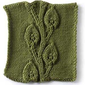 Stitch Gallery - Embossed Vine and Leaves | Yarn | Free Knitting Patterns | Crochet Patterns | Yarnspirations