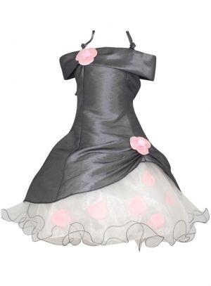 39,99 € - Robe de cérémonie pour fille modèle Pétale couleur gris souris.Cette robe cérémonie enfant est en tissu taffetas avec volants de[...]