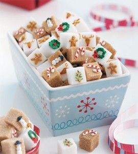 Decorated sugar cubes. So cute.