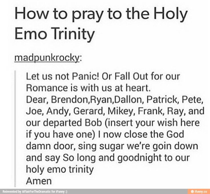 How us Killjoys, Youngbloods, and Sinners should pray.