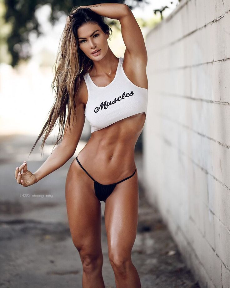 Female fitness models having sex