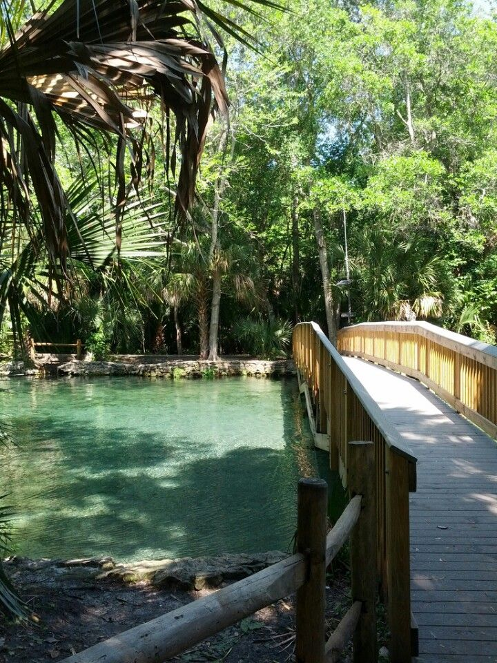 This park has a natural spring bubbling at its center waiting for swimmers and sunbathers, as well as miles of hiking trails, canoe and kayak rentals, and camping grounds.