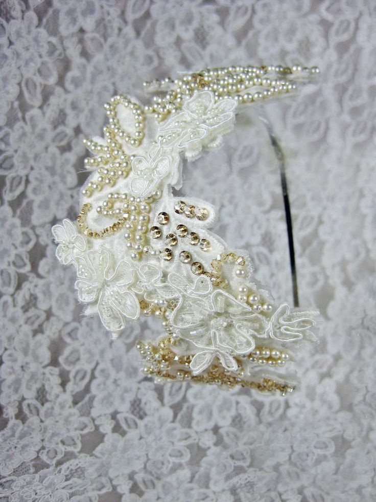 Everything Angelic Cait Headband - In Your Choice Of Lace, Organza, Pearls, Crystals!