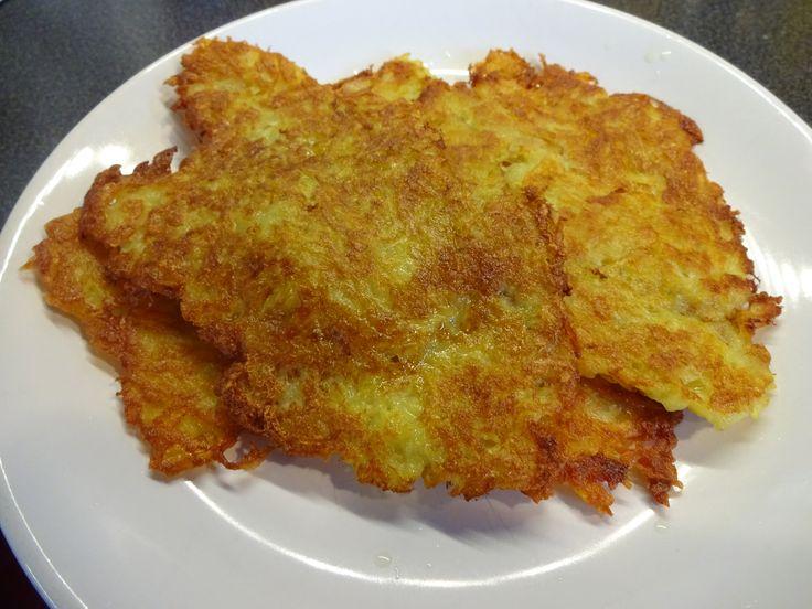 Potato pancakes - bramboráky  traditional Czech meal
