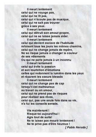 """Pablo Neruda - Poème. - Notre Espace Virtuel pour le Cours de Langue Française """"FRANCÉS 1"""" – 2012 /13"""