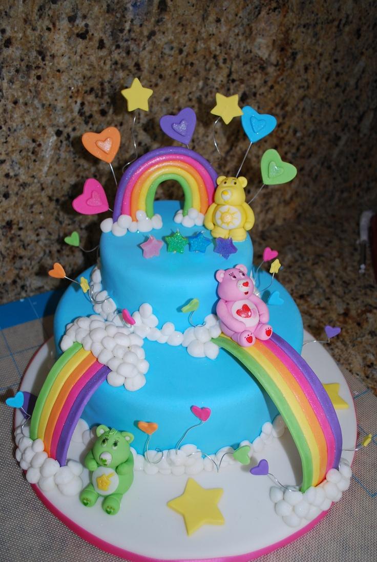 Care Bears Cake Care Bears Birthday Pinterest Care