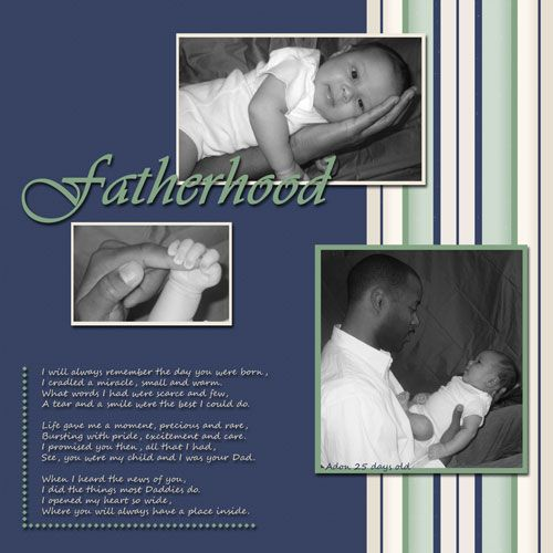 Add a my daddy scrapbook page to your child's memory album. Daddy poems http://www.the-baby-scrapbook-place.com/baby-smile.html