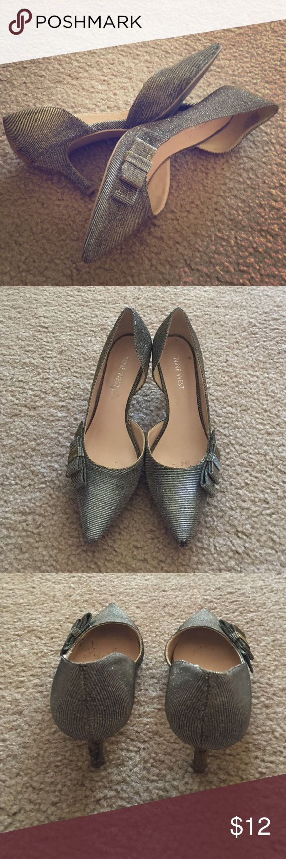 Nine west heels Cute and smart. will be cleaned up before shipping. Nine West Shoes Heels