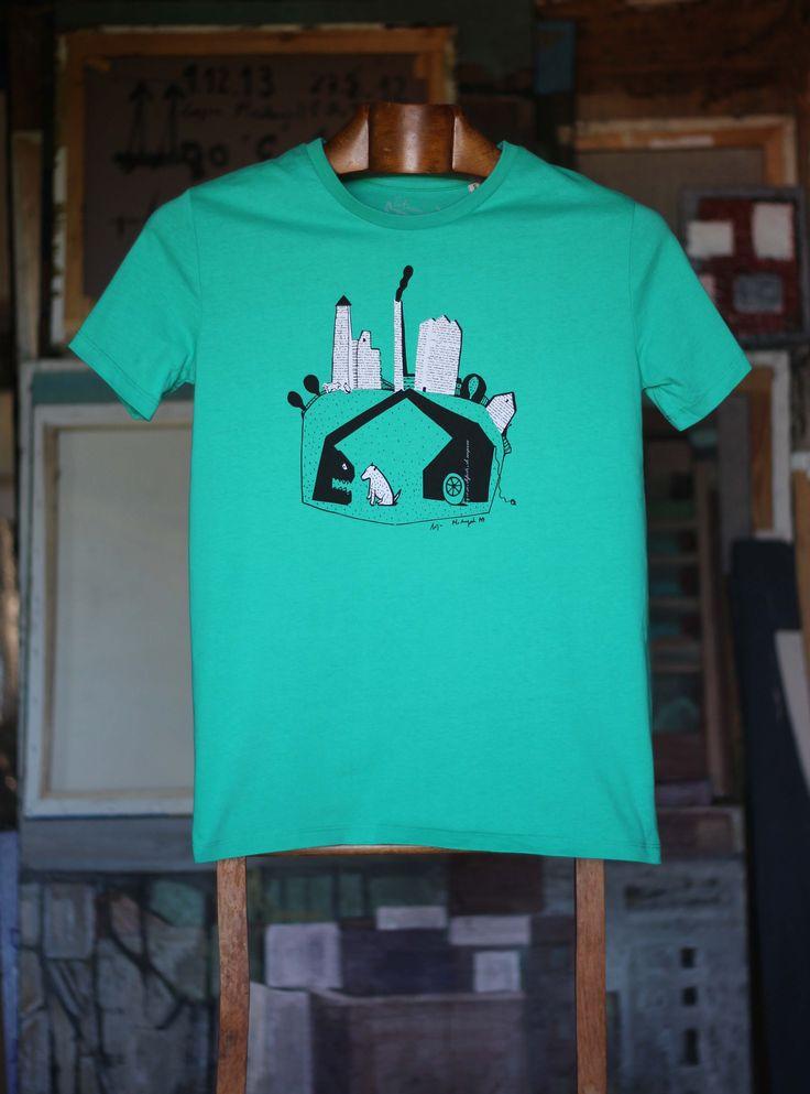 Grua come perro verde hombre Camiseta 100% algodón orgánico 30,00€
