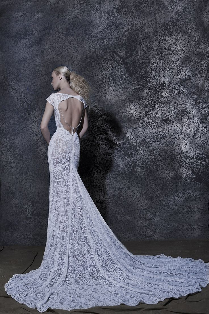 Our Elda! #weddingdress #vintage #openback #lace