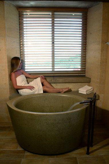 extraordinary concrete bathroom ideas | Japanese-style soaking tubs catch on in U.S. bathroom ...