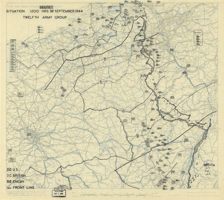 Carte de situation du 30 septembre 1944