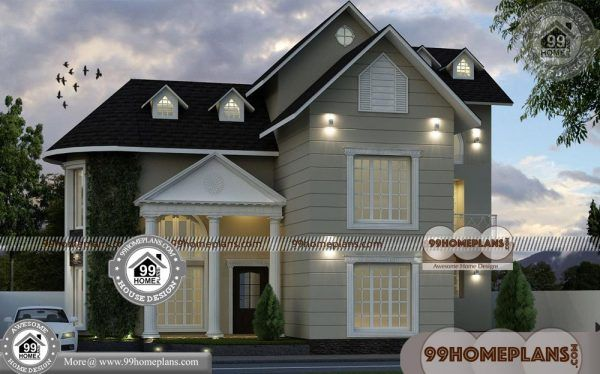 Plans For 3 Bedroom Houses 60 Two Story Small House Design Online House Arch Design Indian House Exterior Design Small House Design