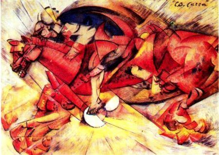 Carlo Carrà -Le cavalier rouge- 1912