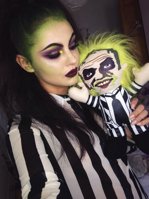 Imagen de beetle juice, Halloween, and makeup