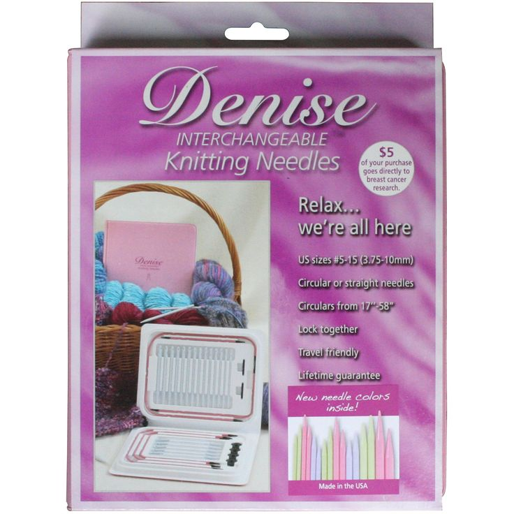Denise Interchangeable Knitting Needles Kit- Case W/Pastel Colored Needles