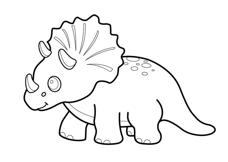 knabstrupper hengst dinosaur coloring pages | Funny dinosaur triceratops cartoon coloring pages for kids ...