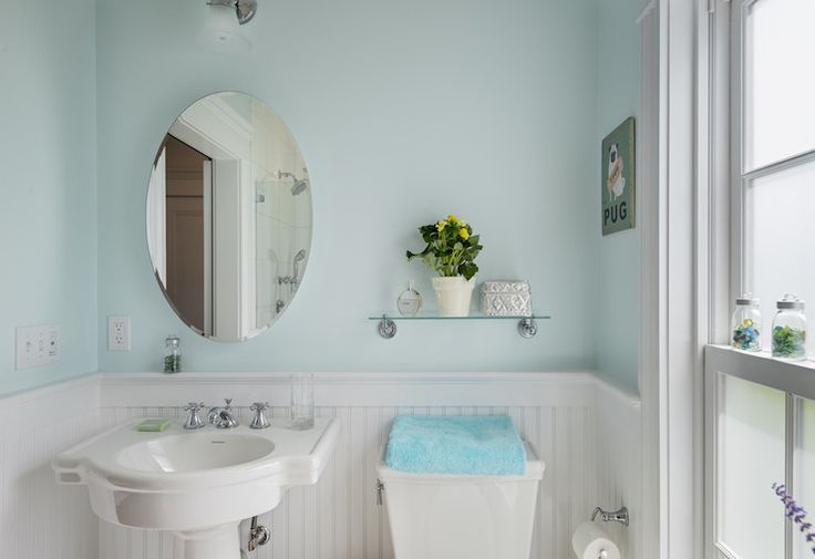 Source Crisp Architects White And Blue Bathroom Features