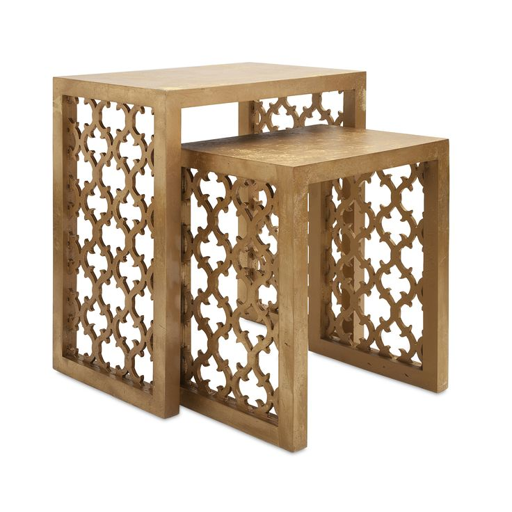 Delightful IMAX Canaberra 2 Piece Nesting Tables 47564 2.