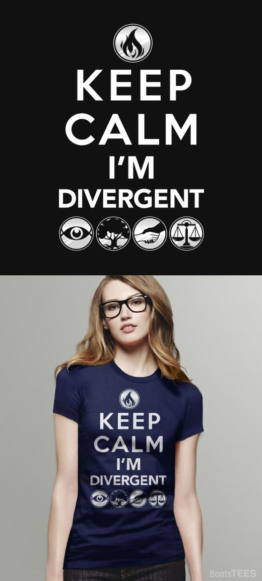 Divergent T-Shirt | Book and Movie Geek Fandom Shirt with Divergent Quote and Faction Symbols. Pictured: Womens Tee Shirt.
