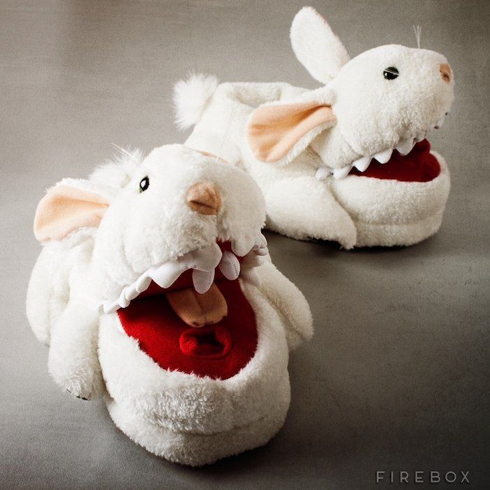 Limited Edition Monty Python Killer Bunny Slippers / This vicious pair of Killer Bunny Slippers is an officially licensed Monty Python limited edition product. http://thegadgetflow.com/portfolio/limited-edition-monty-python-killer-bunny-slippers/