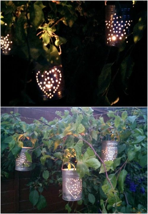 72 best diy lanterns images on pinterest wedding company jar diy recycled tin can lanterns solutioingenieria Image collections