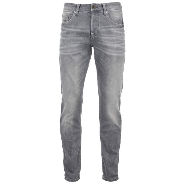 Scotch & Soda Men's Ralston Slim Jeans - Stone & Sand (175 CAD) ❤ liked on Polyvore featuring men's fashion, men's clothing, men's jeans, men, jeans, men wear, men's pants, pants, grey and mens gray jeans