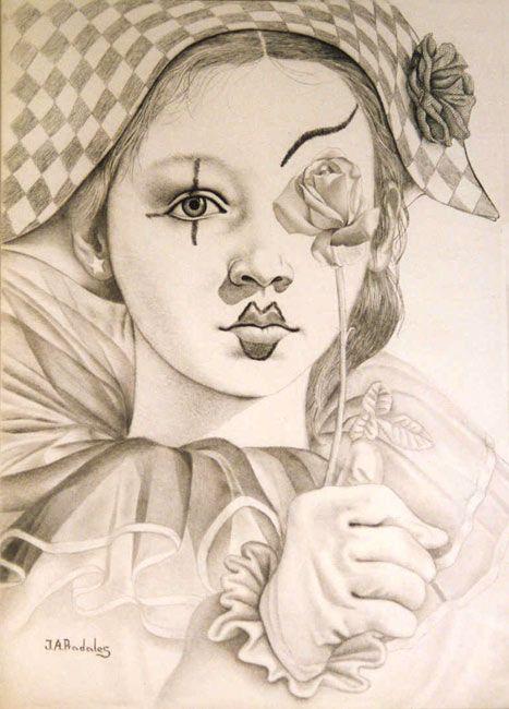 art deco clown coloring pages - photo#29