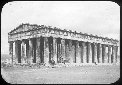 Athens, Hephestion Magic Lantern Slide