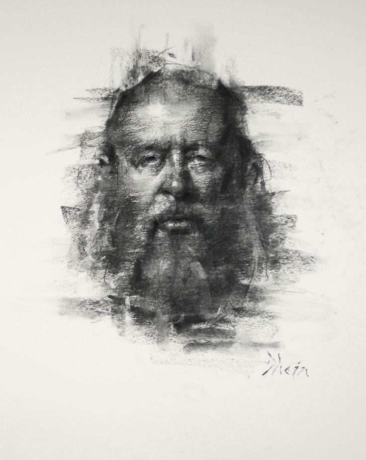 Charcoal drawing of Bob