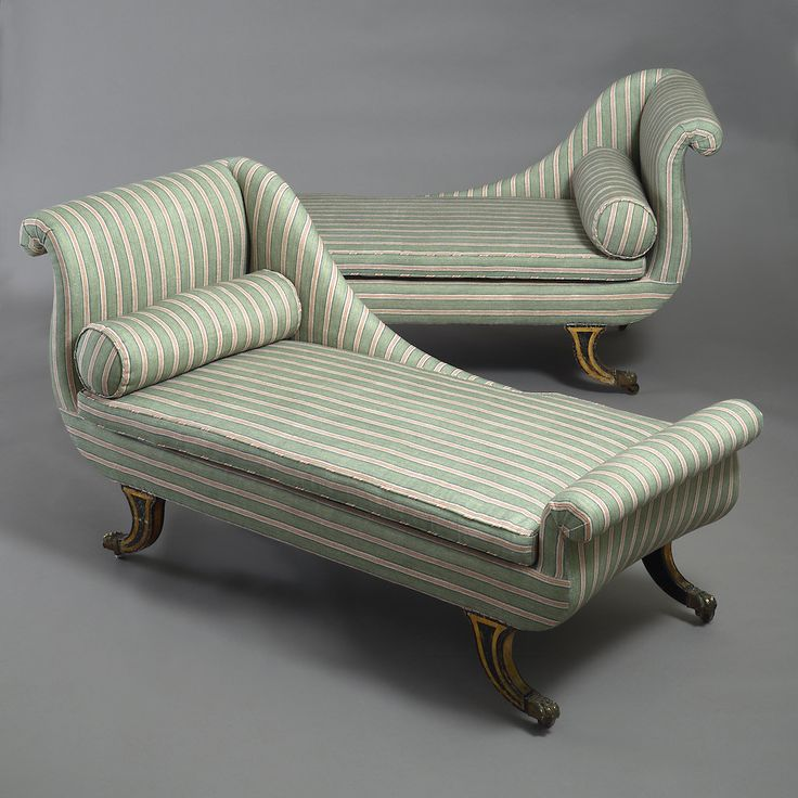Pair of Regency chaise longues