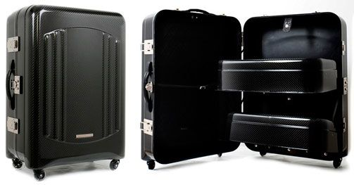 """This is the most expensive suitcase on sale exclusively at Harrod's UK, and no, we are not currently stocking it! It is going at a cool £37,500GBP, which comes up to about SGD$80,000.  This expensive box on wheels is called """"The Trunk"""" and brought to us by Upmarket Italian luggage brand TecknoMonster. It is made entirely of carbon fibre, making it the strongest luggage to exist so far. Take that baggage handlers!"""