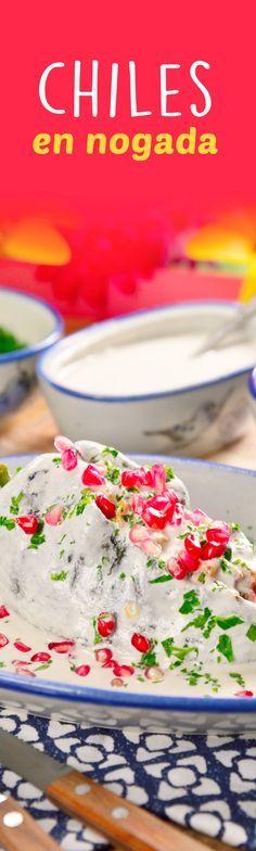 La receta de chiles en nogada es una preparación clásica dentro de las recetas mexicanas. Es un platillo tradicional en nuestra cocina, siendo una de las preparaciones más deliciosas de la gastronomía de nuestro país