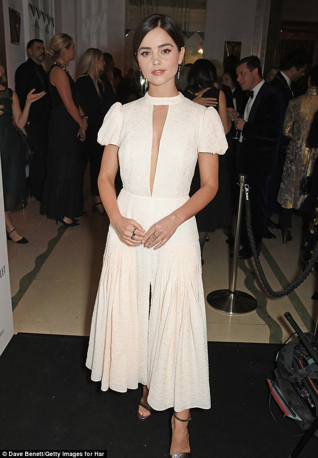 Gorgeous: Victoria actress Jenna Coleman looked exquisite on Thursday night, as she attended the Harper's Bazaar Women of the Year Awards