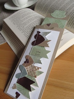 banner and hearts bookmark