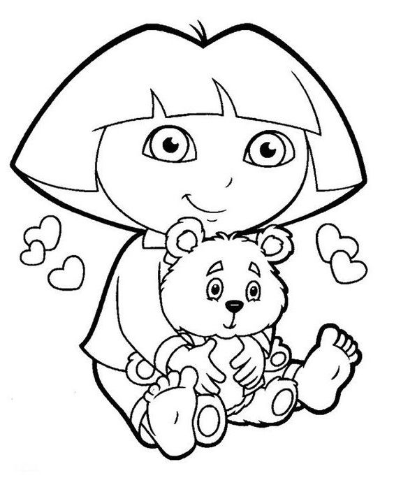 free printable dora coloring pages dora the explorer coloring pages getcoloringpages