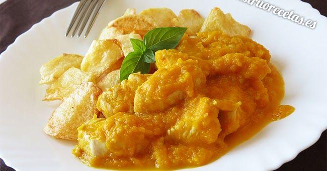 Receta de pollo en salsa de zanahoria. Disfruta de esta plato de carne con una salsa fácil y saludable.