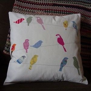 Adorable Bird on a Wire pillow.